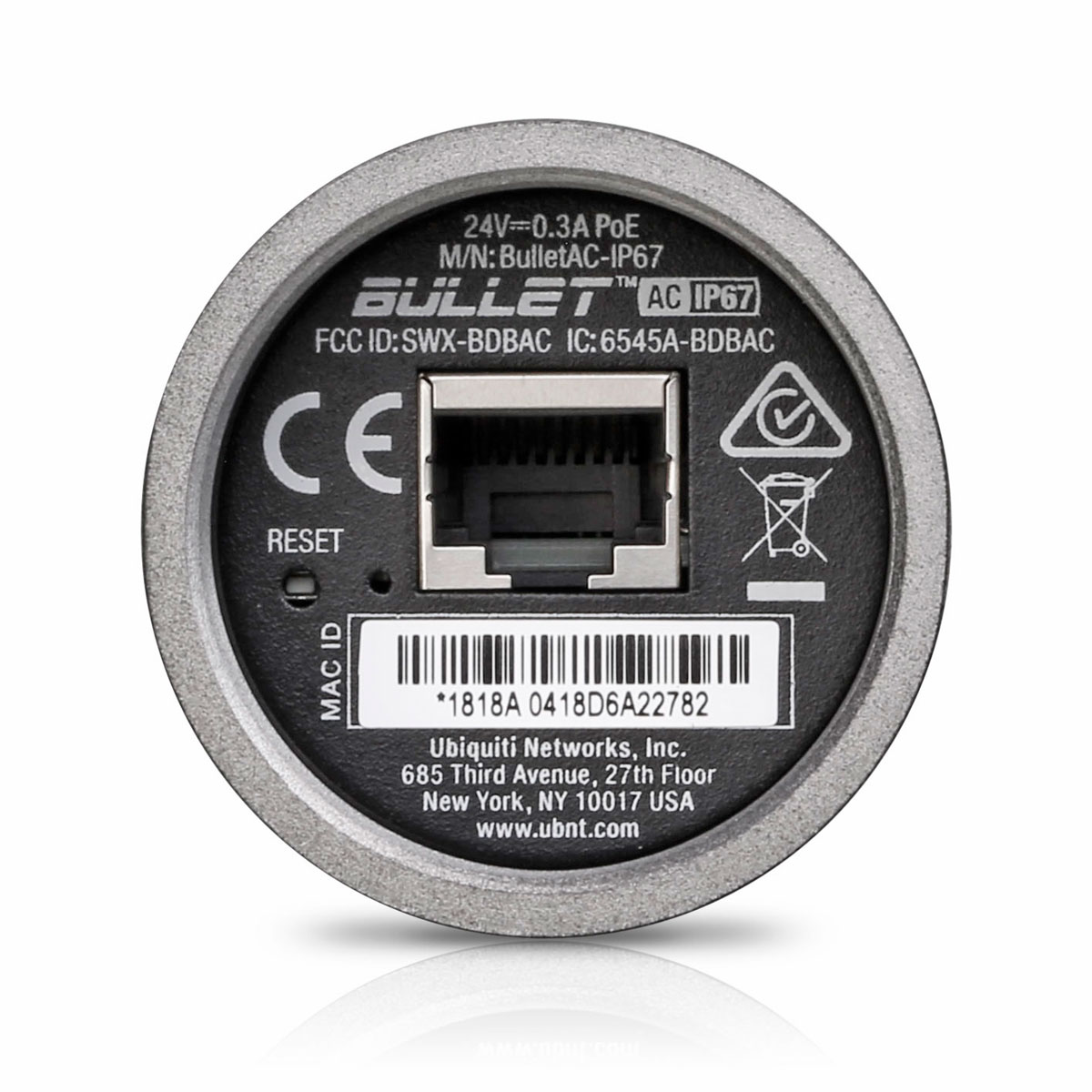 Bullet AC IP67 - porta ethernet